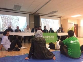 A panel of various faith leaders.