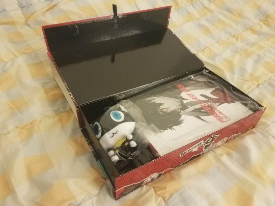 Goodies inside the collectors box