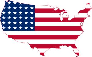 flag map of us