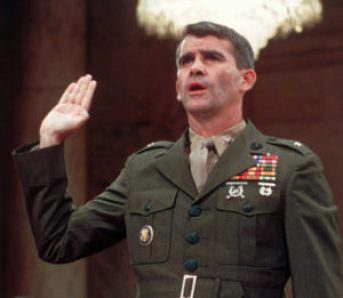 Oliver North testifies on Capitol Hill