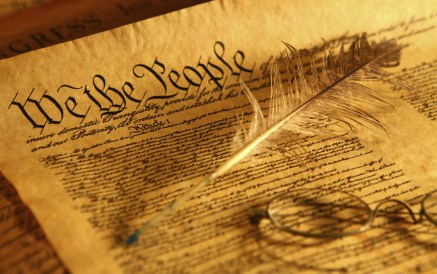 Image of the US Constitution - the Emoluments Clause is contained in Article I