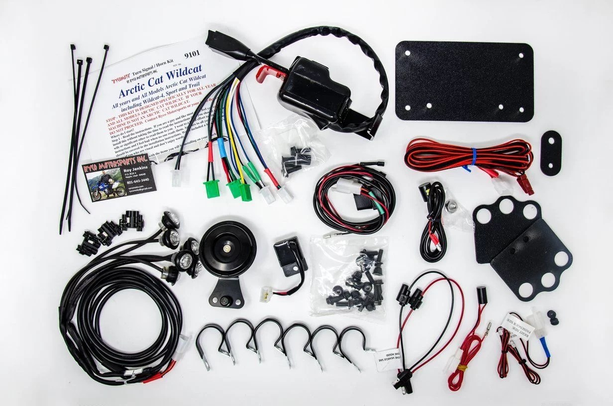 Without Mirrors for Textron WILDCAT TRAIL 700 2018 UTV Horn /& Signal Kit