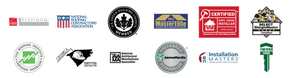 Baker Roofing Certifications