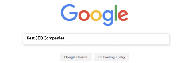 Screen Shot of Google Search for Best SEO Company