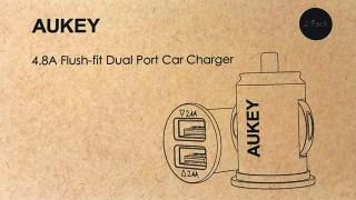 【98個無料プレゼント】AUKEYの4.8AシガーソケットUSB充電器カーチャージャー 車で高速充電!CC-S1