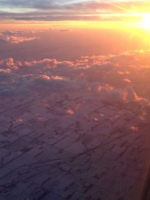 Flying over central Nebraska in mid-February, en route to Denver.