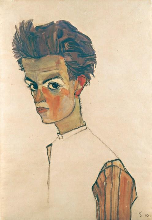 Egon_Schiele_-_Self-Portrait_with_Striped_Shirt_-_Google_Art_Project