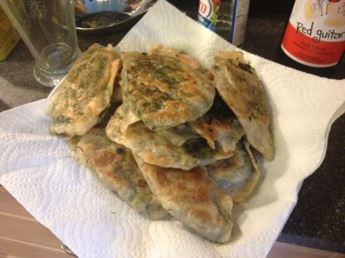 "Azerbaijani ""göyərti qutabı"" - fried turnovers with herbs and greens!"