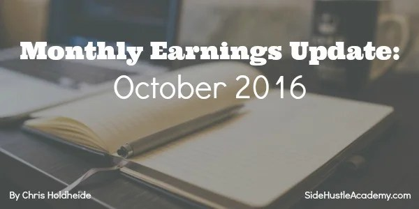 Monthly Earnings Update: October 2016