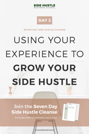 Side Hustle Cleanse Day 2 Pinterest Graphic