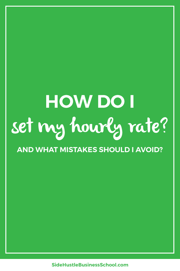 How do I set my hourly rate graphic