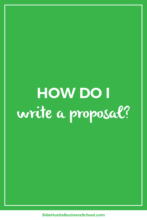 How do I write a proposal graphic