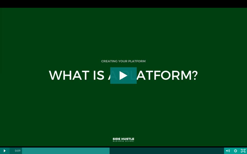 What is a platform - Side Hustle Business School