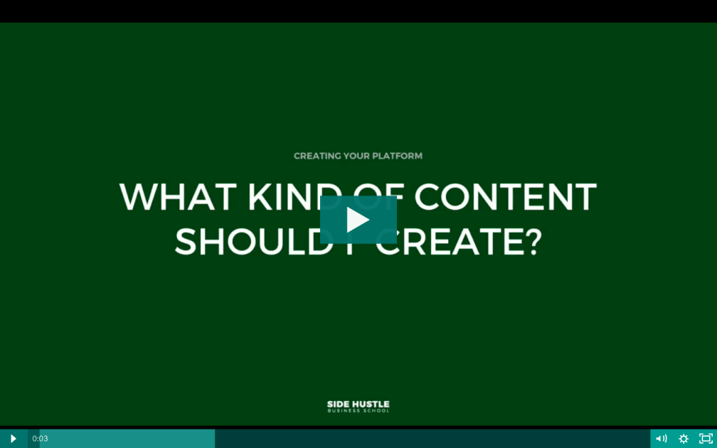 What kind of content should I create - Side Hustle Business School