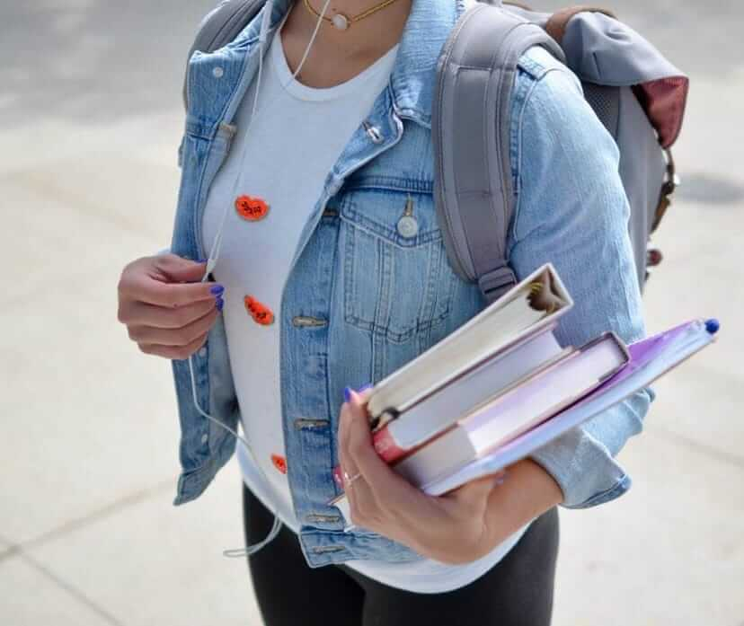High School student with books