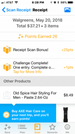 Fetch Rewards App - Scan Receipt Bonus