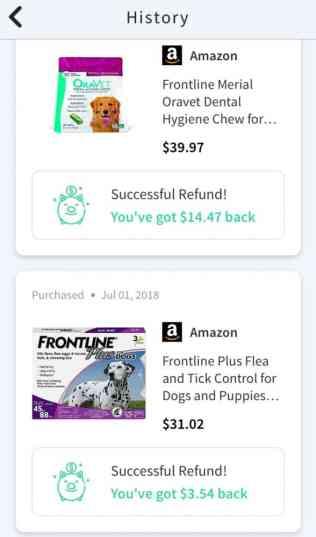 Sift app cash back Amazon