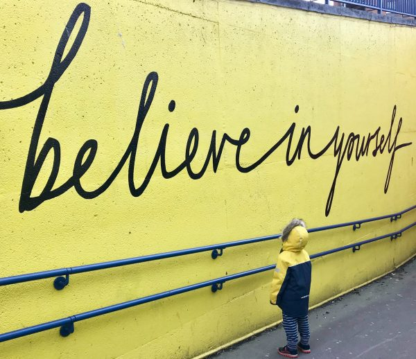 Believe in Yourself - child looking up