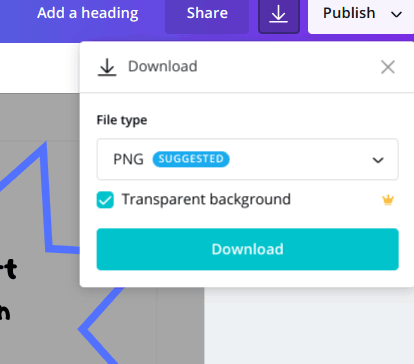 Creating a transparent background with Canva