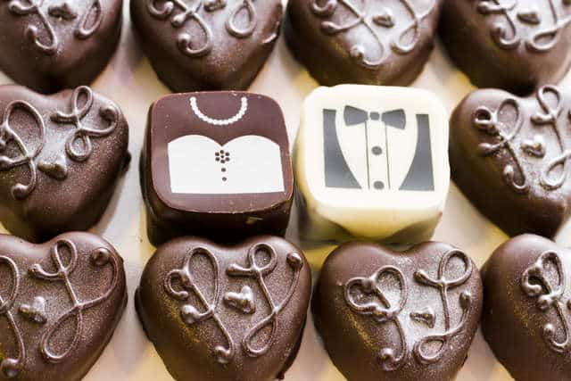 Wedding Planning on a Budget - chocolates