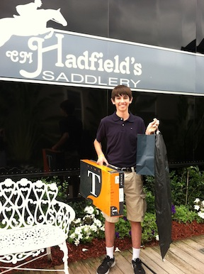 Hadfield's Saddlery gave Jack a new pair of boots and a new jacket.