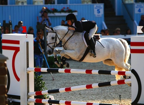 Lucy and Wiseguy in the NAL Pony Jumpers at Devon in 2011. Photo by Kathleen Fisher