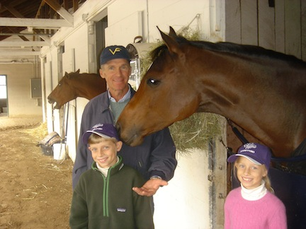 Lucy's dad may be an Olympic champion and a famous racehorse trainer, but to her he is still Dad! Photo courtesy of Michael Matz
