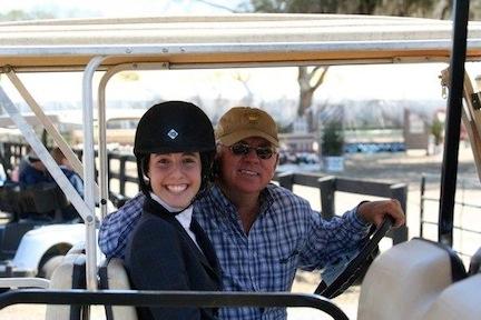Don Stewart and Meg O'Mara, winner of the 2012 Pessoa/US Hunter Seat Equitation Medal Finals. Photo courtesy of Meg O'Mara