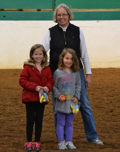 Joan and two young fans at the Triangle Farms Easter Show.