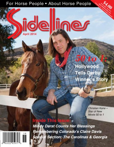 """Actor Christian Kane stars in the new movie """"50 to 1"""" based on the true story of Kentucky Derby winner Mine That Bird. Photo by Craig Morton"""