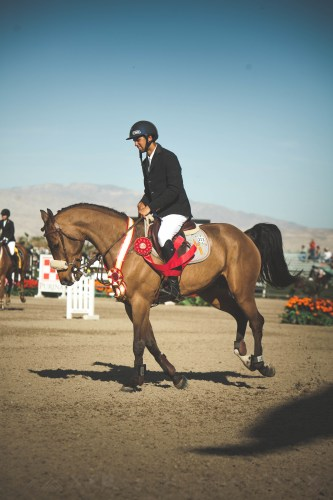 Nayel and Lordan taking their victory gallop following their second place finish in the AIG $1 Million Grand Prix at HITS Thermal.