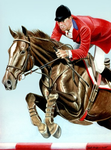 A painting of Ian and his famous equine partner, Big Ben, by Canadian artist Janet Griffin-Scott. Courtesy of Janet Griffin-Scott, www.janetgriffinscott.com