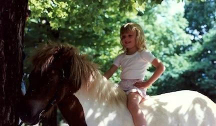 Kerstie as a little girl.