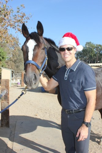 The perfect Christmas present – a horse and a hot horseman!