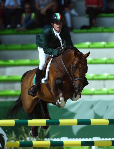 Darragh and Imothep competing at the 2014 Alltech World Equestrian Games Photo by SportFot