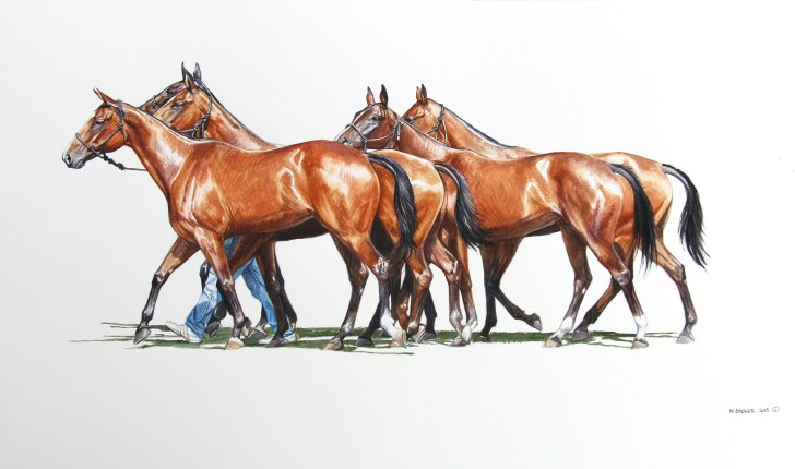 """""""Six Bays"""" — watercolor painting (Photo courtesy of Melinda Brewer)"""