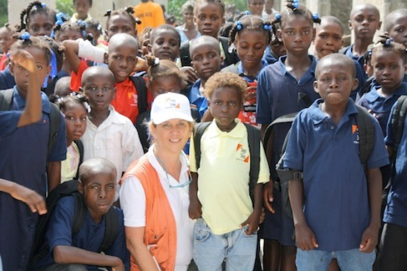 Liliane in Haiti. (Photo courtesy of Step by Step Foundation)
