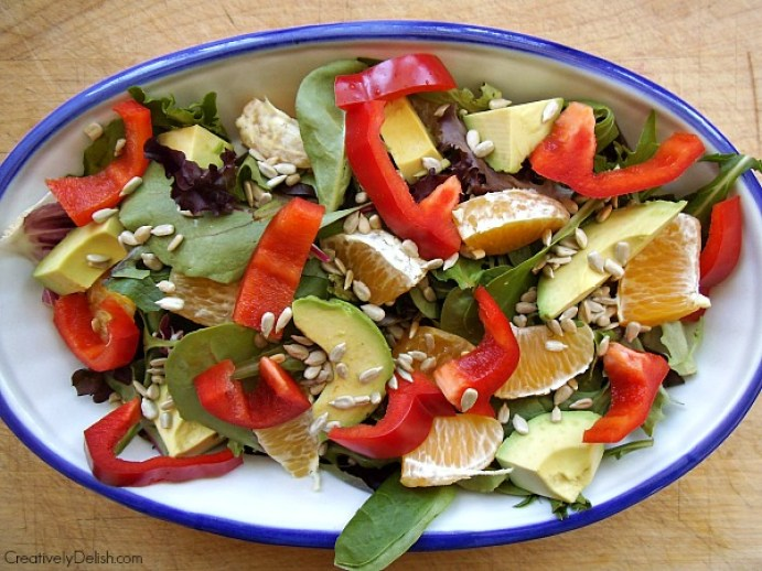 Avocado & Orange Salad. A simple and quick salad to throw together that's perfect for warmer weather. (Photo by Lauren Blacker)