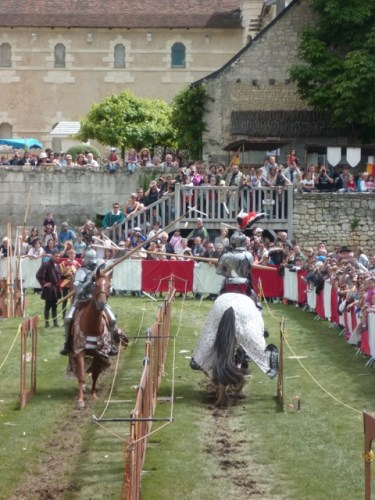 Visitors enjoy jousting in the Loire Valley.
