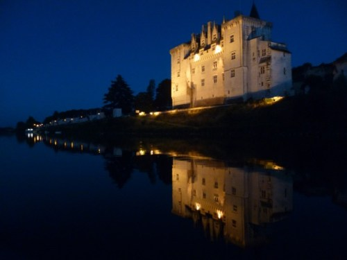 While visiting the Loire Valley, you can take a castle-to-castle ride and perhaps visit the Montsoreau castle, which looks stunning at night.