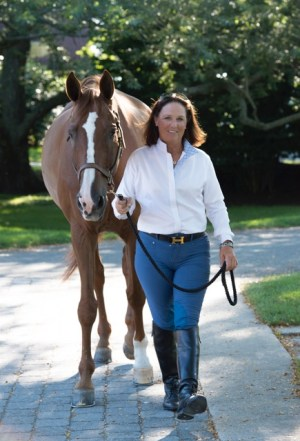 Harriet, with HJ Benjamin, has followed in her father's footsteps and is also a trainer. She trains out of Wolffer Estate Stables and Topping Riding Club both in Sagaponack, New York. Photo by Isabel Kurek