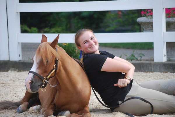 Best friends always have each other's backs — Sarah Schaaf and her miniature horse Patrick.