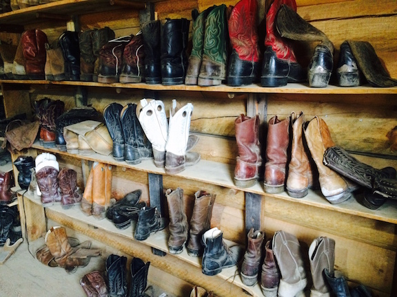 No boots – no problem. The ranch has plenty of boots for guests to borrow during the week – and riding helmets also! Photo by Jan Westmark