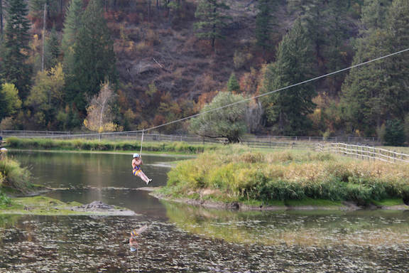 There are lots of activities at the ranch, including ziplining. Photo by Anne Joubert