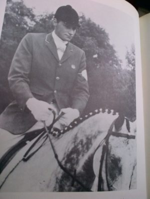 Mason and Gladstone in the dressage phase aboard his horse, in the European Eventing Championship in 1967. Photo courtesy of Phelps Media Group