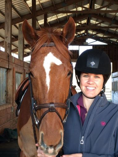 Grace and Harrill, her off-the-track Thoroughbred Photo courtesy of Grace Buchanan