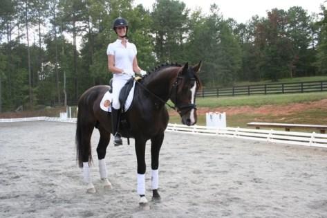 Stephanie rides Marabet Farm's stallion Carry On MF at the Winter Equestrian Festival each year.