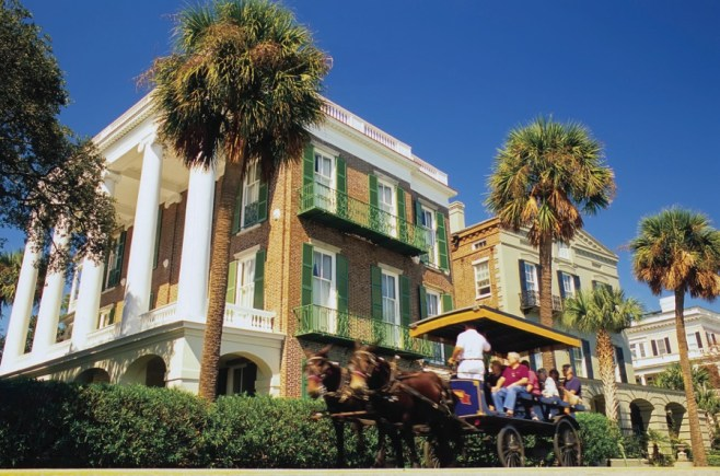 Explore Historic Charleston with a carriage tour.