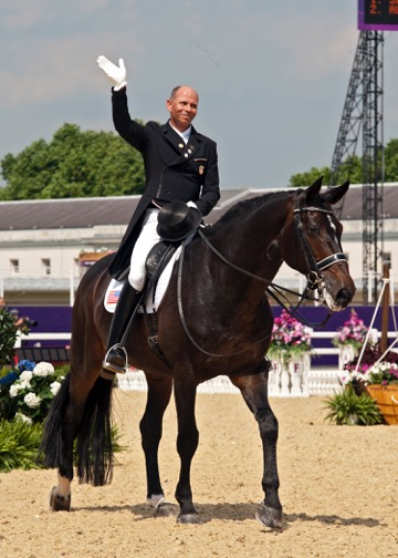 Steffen is triumphant after earning two individual bronze medals at the 2010 World Equestrian Games in Kentucky. Photo by Lauren R. Giannini