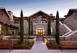 The Rosewood Sand Hill Hotel in Menlo. Photo courtesy of Rosewood San Hill Hotel